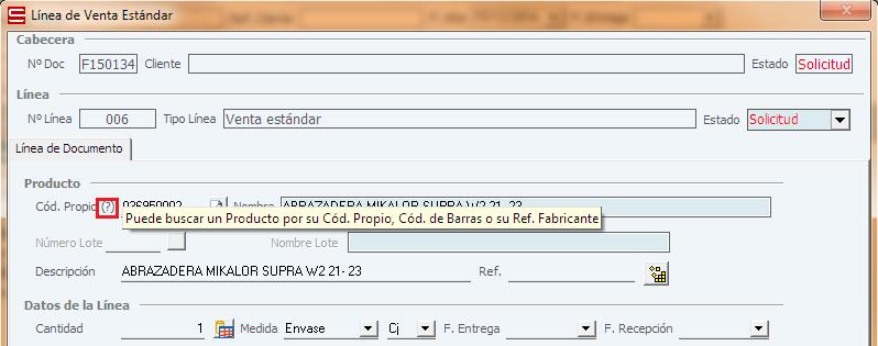 Actualizaciones ERP Soltic - Localizar Porducto mediante su Cód. Propio, Cód. Barras o Referencia Fabricante