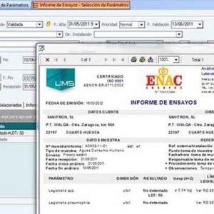 LIMS - Orden Analisis Informe Ensayo