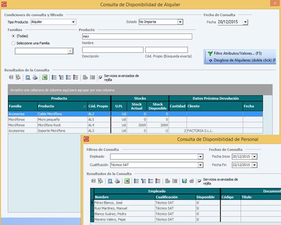 RMS - Consultas Disponibilidad Alquiler