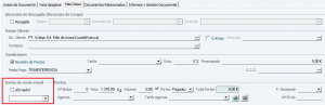 Envío albaranes email campos Albarán de venta